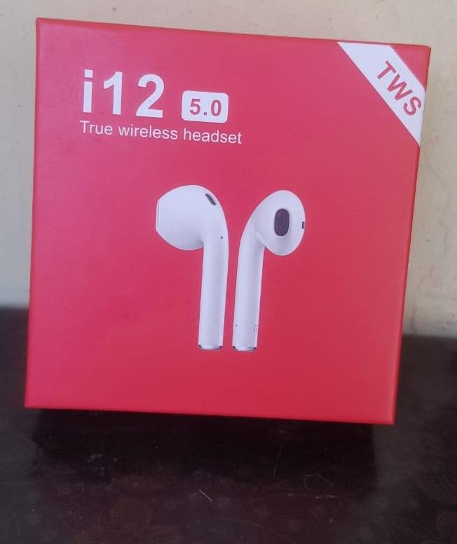 TWS i12 Wireless Bluetooth Air Handfree With Charging Box