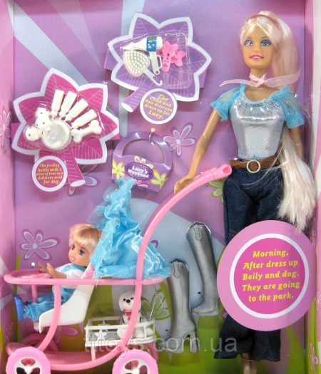 Defa Lucy Barbie Doll with Baby Stroller 3