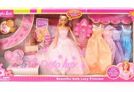Defa Lucy Princess Barbie Doll with Outfits 1