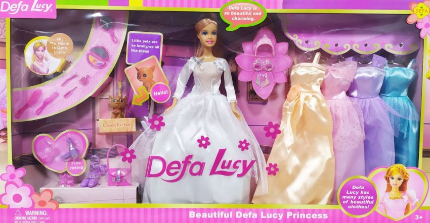Defa Lucy Princess Barbie Doll with Outfits 2