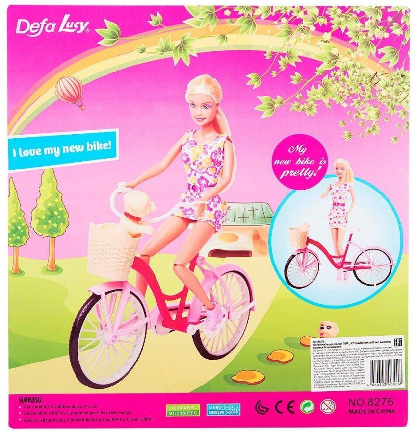 Defa Lucy Barbie Glam Bicycle Doll 4