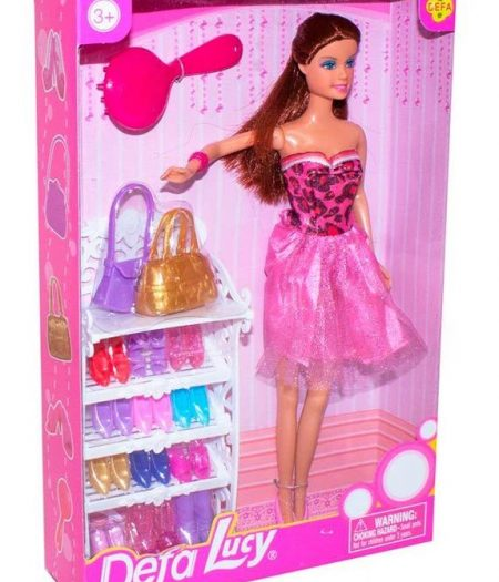 Defa Lucy Barbie Doll with Many Accessories 3