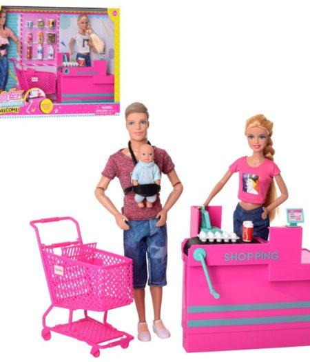 Defa Lucy Barbie & Ken (Male) Doll with Supermarket 3