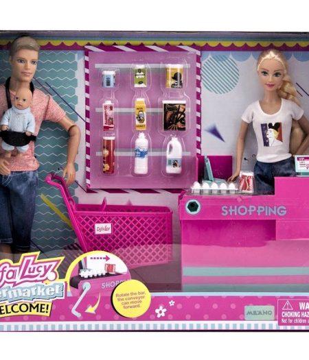 Defa Lucy Barbie & Ken (Male) Doll with Supermarket 2