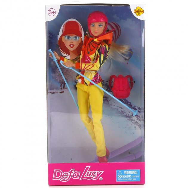 Defa Lucy Barbie Snow Skating Doll 4