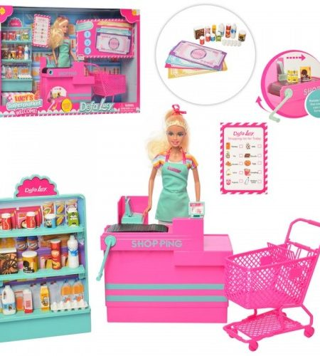 Defa Lucy Barbie Doll SuperMarket with Accessories 1