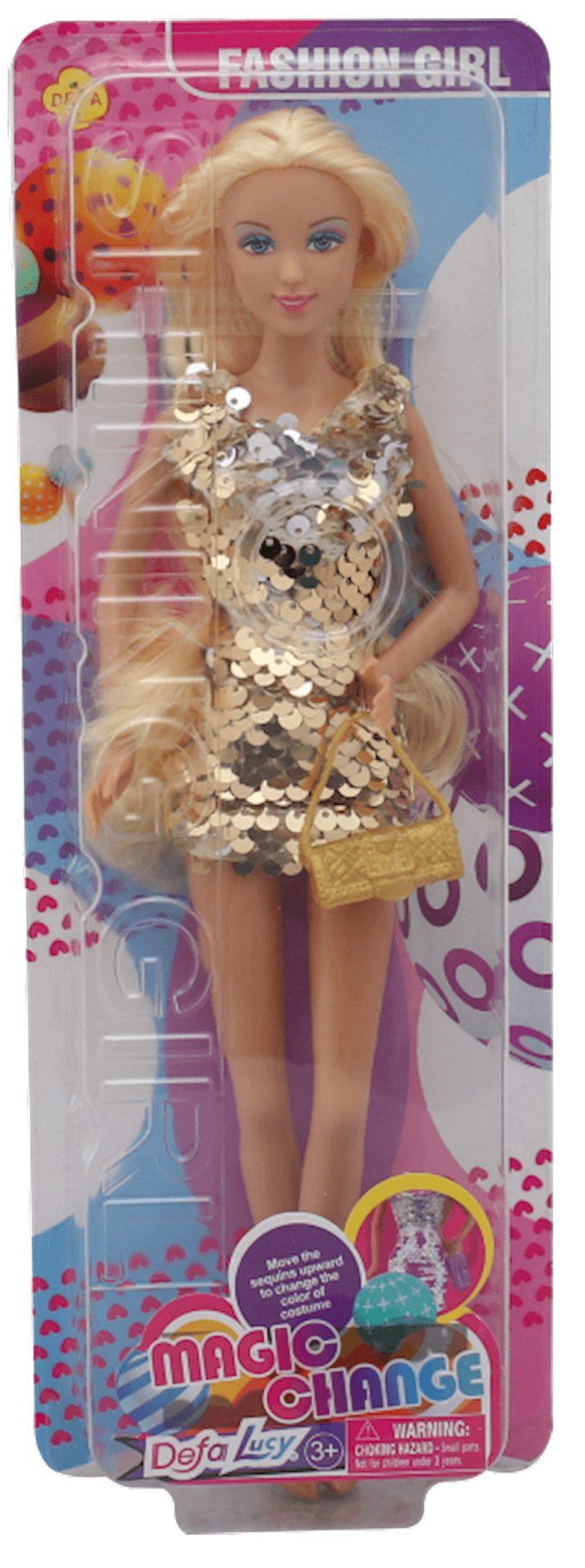 Defa Lucy Barbie Magic Change Dress Doll 1