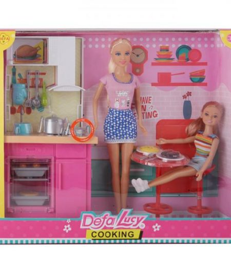Defa Lucy Barbie Doll with Kitchen Accessories 3
