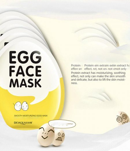 BIOAQUA Egg Mask for Smooth & Moisturizing Skin Care 30g x 5 3