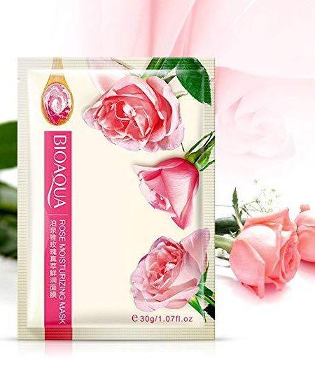 BIOAQUA Rose Facial Mask Smooth Moisturizing Face Mask Skin Care 30g x 5 1