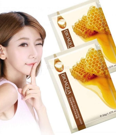 BIOAQUA Honey Facial Mask Smooth Moisturizing Face Mask Skin Care 30g x 5 2