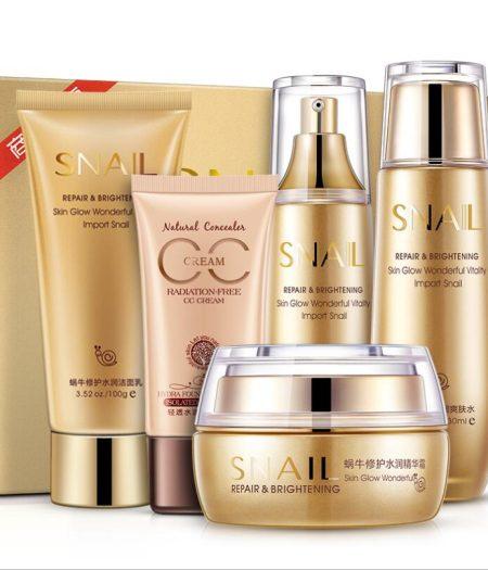 BIOAQUA Serum Cream Toner Cleanser CC Cream Essence Emulsion Face Care Kit 1