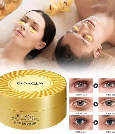 BIOAQUA Gold Collagen Eye Mask Anti Wrinkle Eye Patch Dark Circles Remover 60pcs