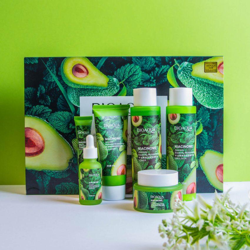 BIOAQUA Avocado Natural Anti Aging Moisturizing Skin Care Set 6 In 1 3