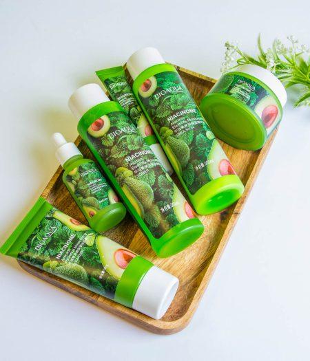 BIOAQUA Avocado Natural Anti Aging Moisturizing Skin Care Set 6 In 1
