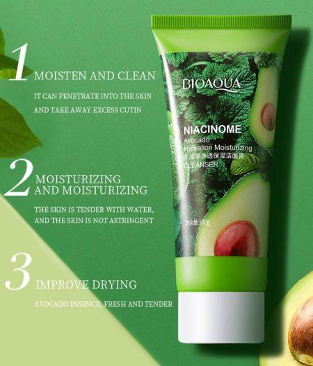 Bioaqua Avocado Natural Face Cleanser Care Acne Treatment 100g 1
