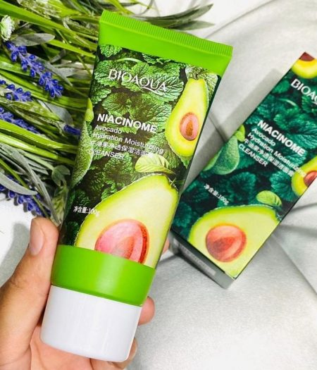 Bioaqua Avocado Natural Face Cleanser Care Acne Treatment 100g