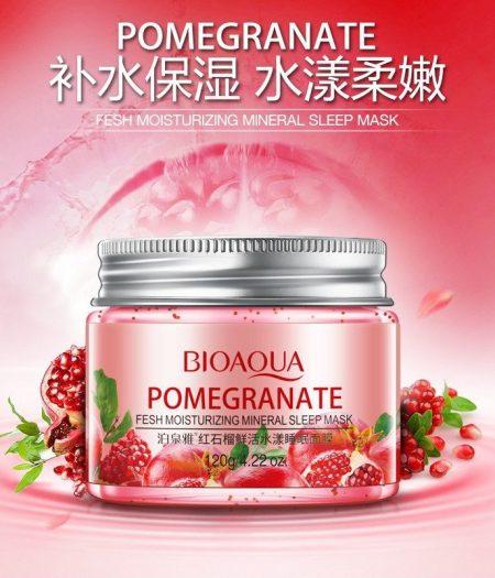 BIOAQUA Pomegranate Fresh Moisturizing Mineral Sleep Mask 120g