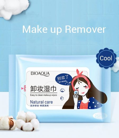 BIOAQUA Easy to Clean Remover Makeup Wipes Natural Care 25pcs