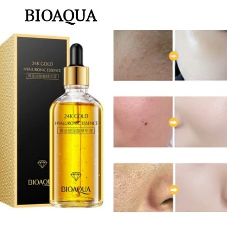 BIOAQUA 24k Gold Hyaluronic Essence Moisturizing Skin Care Anti Aging 100ml