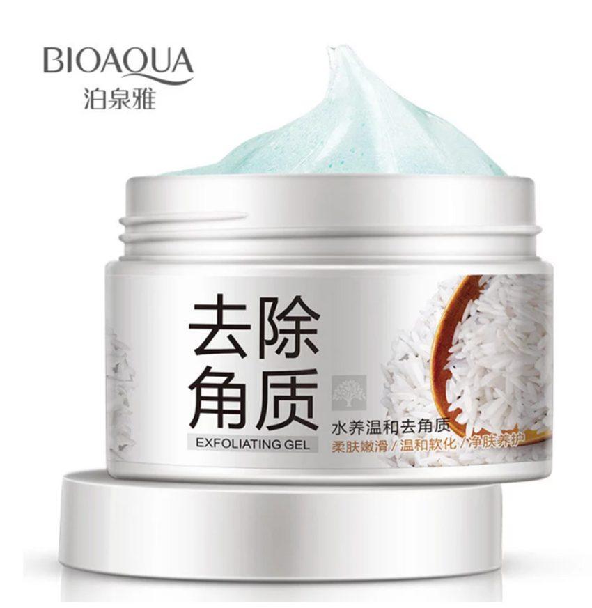 BIOAQUA Brightening & Exfoliating Rice Gel Face Scrub Shrinkage 140g 2