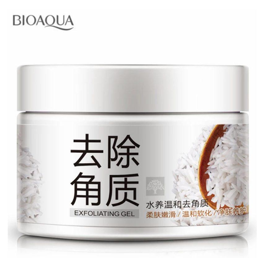 BIOAQUA Brightening & Exfoliating Rice Gel Face Scrub Shrinkage 140g