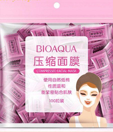 BIOAQUA Compressed Natural Cotton Light Face Mask 100 pcs 1