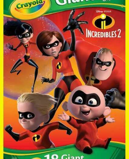 Crayola Incredibles 2 Giant Coloring Book 18 Pages 2