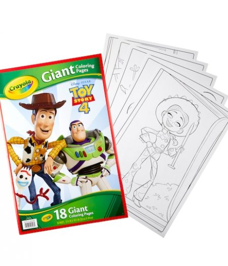 Crayola Toy Story 4 Characters Giant Coloring Book 18 Pages 4