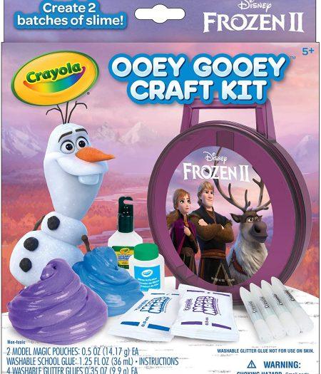 Crayola Frozen 2 Gooey Fun Art Set Glitter Slime Supplies 4