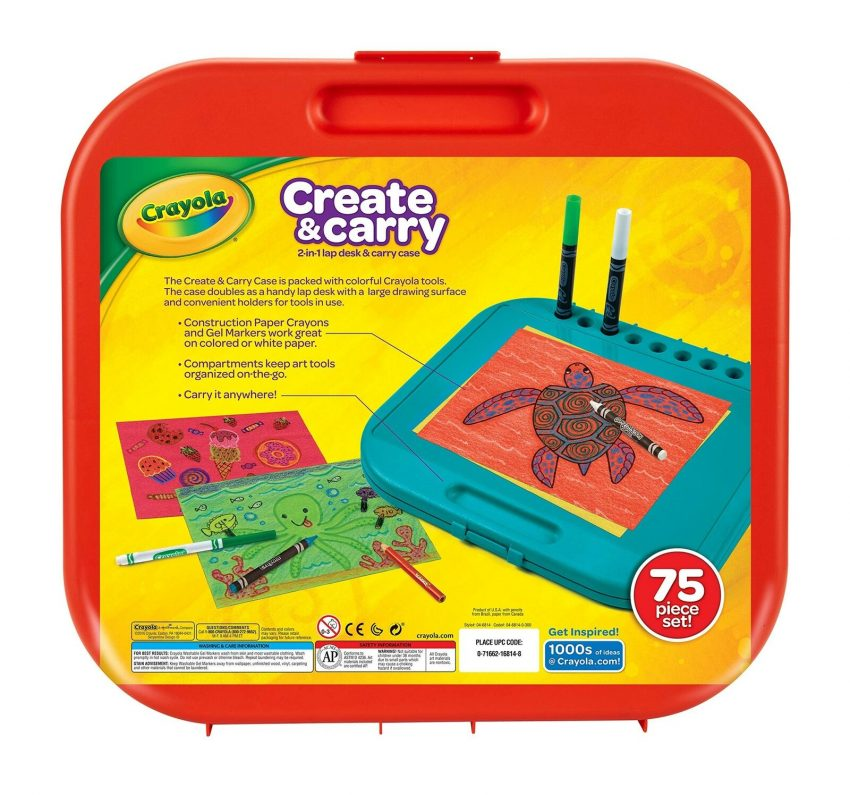 Crayola Create n Carry Case Portable Art Tools Kit Over 75 Pcs 2