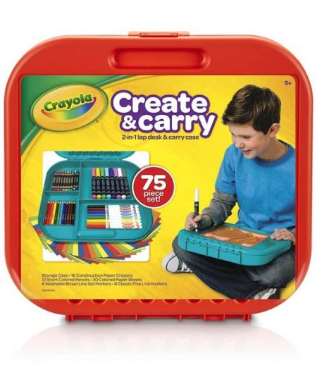 Crayola Create n Carry Case Portable Art Tools Kit Over 75 Pcs 3