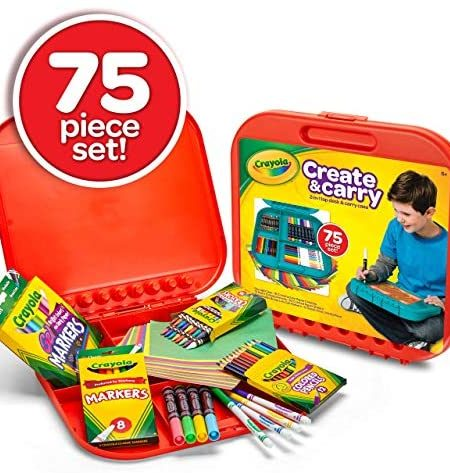 Crayola Create n Carry Case Portable Art Tools Kit Over 75 Pcs 4