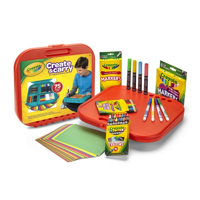 Crayola Create n Carry Case Portable Art Tools Kit Over 75 Pcs