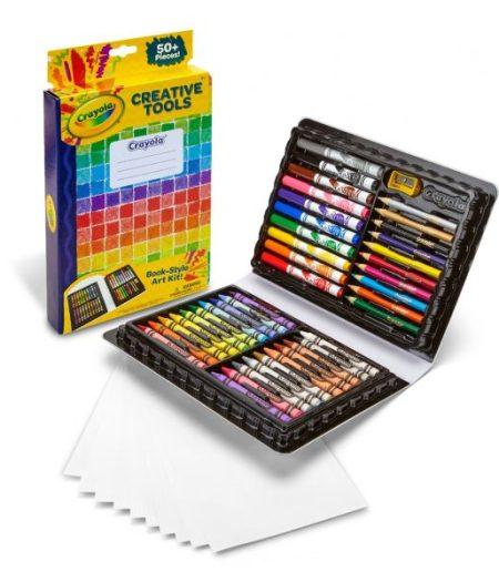 Crayola Creativity Tools Book Style 50 Colors Art Kit 3