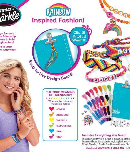 Cra-Z-Art Shimmer & Sparkle Over The Rainbow Friendship Bracelet Kit 3