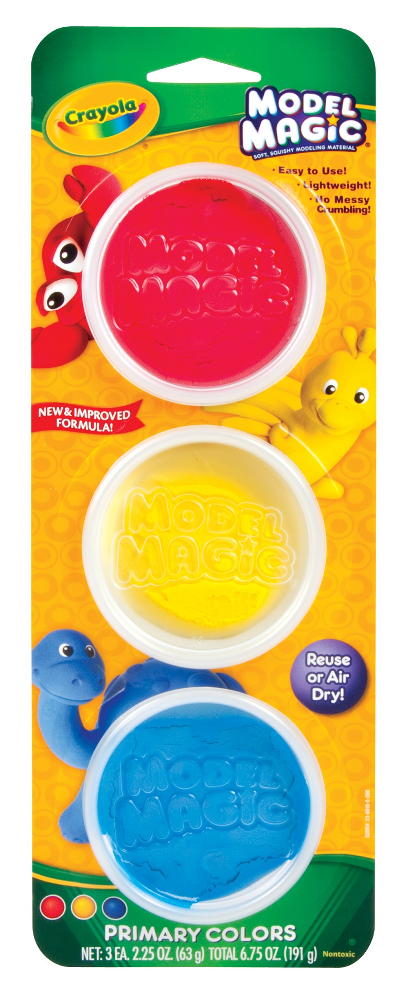 Crayola Model Magic Reusable Tubs Primary Colors 3 Ct 2