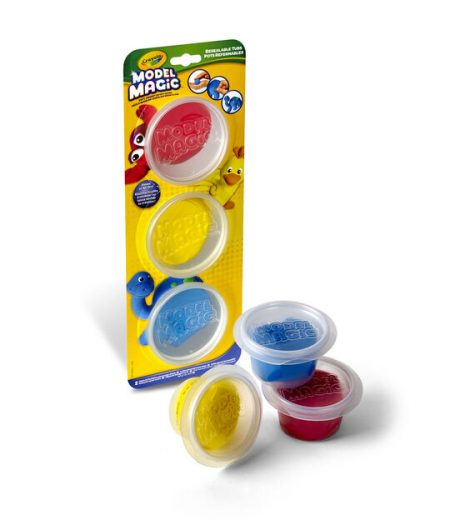 Crayola Model Magic Reusable Tubs Primary Colors 3 Ct 1