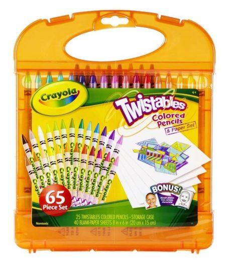 Crayola 65pcs Twistable Color Pencils & Paper Set 2
