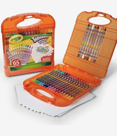 Crayola 65pcs Twistable Color Pencils & Paper Set