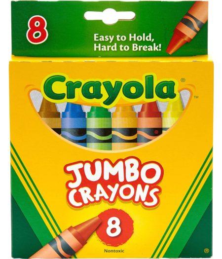 Crayola 8pcs Jumbo Crayons Set School Kids Markers 2