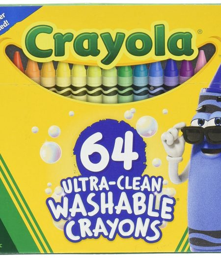 Crayola Ultra Clean Washable 64 Count Crayons for Kids 1