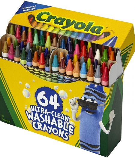 Crayola Ultra Clean Washable 64 Count Crayons for Kids