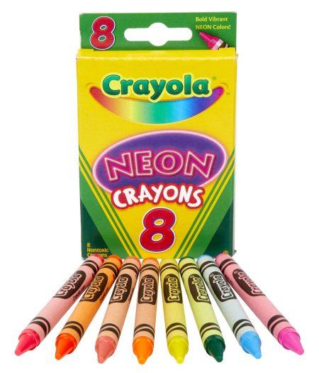 Crayola Neon Crayons 8 Count 2