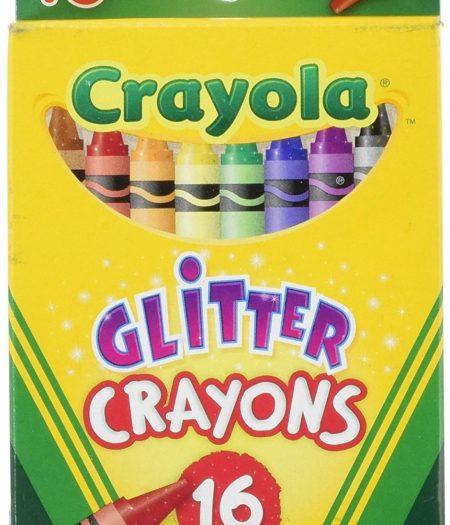 Crayola 16pcs Glitter Crayons Set for School Kids 2