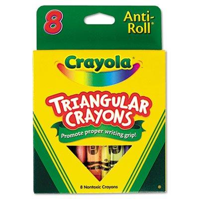 Crayola Anti-Roll Triangular Crayons 8 Count 2