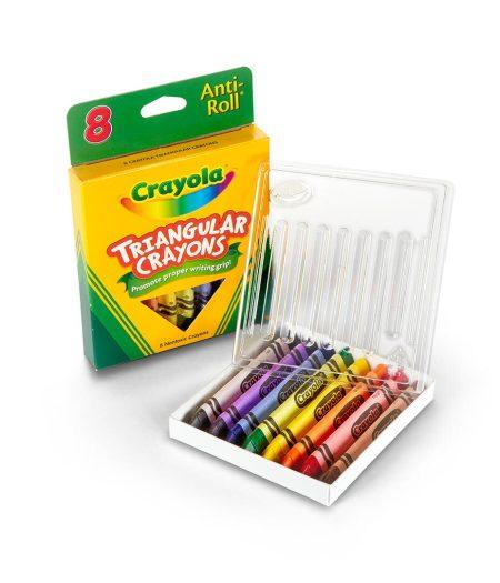 Crayola Anti-Roll Triangular Crayons 8 Count 4