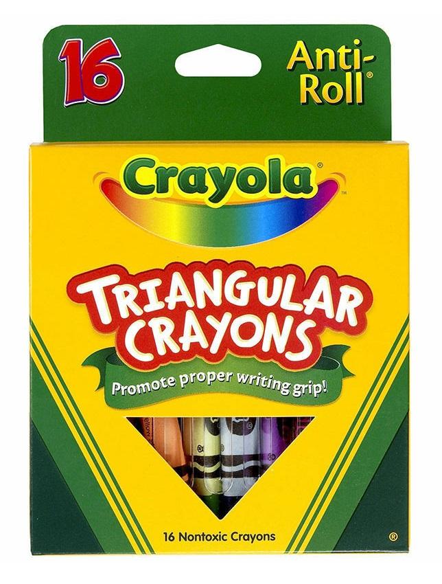 Crayola Triangular Crayons 16 Color Box