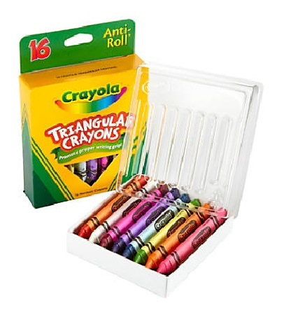 Crayola Triangular Crayons 16 Color Box 2