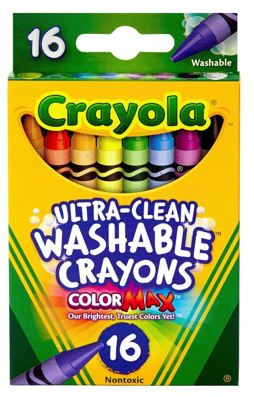 Crayola Ultra-Clean Washable Crayons Regular 16 Colors 1